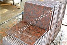 Rosso Santiago Granite Tiles & Slabs, Red Granite Ukraine Tiles & Slabs