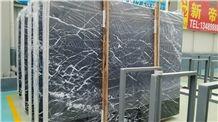 Black Levanto Slab,Nero Marquina Select Marble Slabs