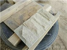 White Sandstone Mushroom Stone Wall Cladding Cheap Prices