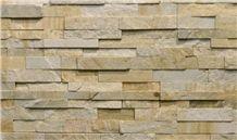Everest Gold Quartzite Wall Cladding Panels, yellow quartzite stone veneer
