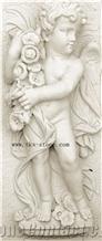 Cherub Bas Relief, Little Angel Etching