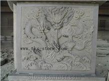 Dragon Engravings, Grey Granite Engravings