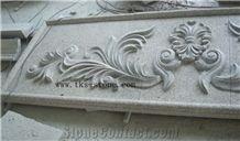 Flower Engravings Relief Design, Red Granite Relief Design