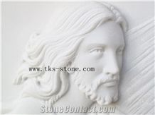 Jesus、Goddess Relief Carving, White Marble Relief Carving