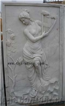 Woman Wall Reliefs, Bas Relief Naked Lady Engraving