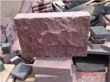 China Red Porphyry Granite G666 Split Face Mushroom Stone for Walling Cladding