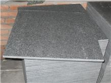 G684 Black Pearl/China Black Basalt, Flamed, Tiles & Slabs