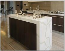 Kitchen Countertop in Calacatta White Quartz Stone
