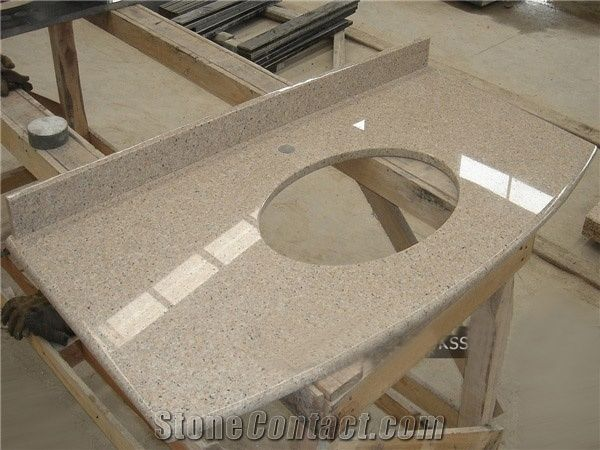 China Golden Pink Granite Bathroom Countertops G48 Granite Custom Extraordinary Custom Bathroom Countertops