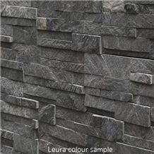 Deco Block Leura, Grey Quartzite Viet Nam Wall Cladding, Cultured Stone