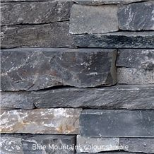 Dry Stone Panel, Grey Quartzite Wall Cladding, Cultured Stone Viet Nam