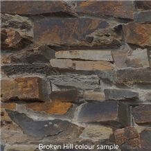 Dry Stonewall, Brown Quartzite Wall Cladding Viet Nam