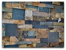 Roxstone Stackstone Panel Colorado, Multicolor Quartzite Wall Cladding, Cultured Stone Viet Nam