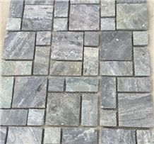 Natural Surface Square Shape Black Slate Tiles & Slabs for Villa, China Black Slate