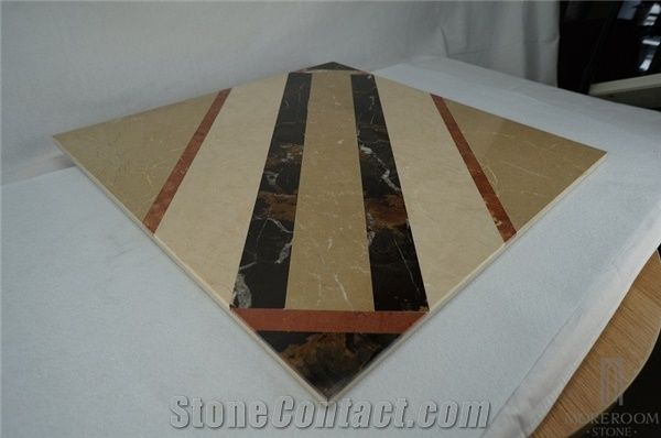 Floor Marble Designs Thin Laminated Water Jet Medallions