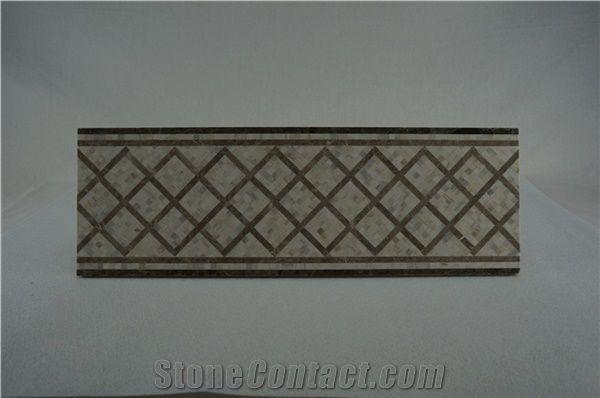Grey Mosaic Border;Marble Mosaic Tile Borders;Border