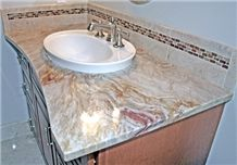 Nacarado Quartzite Custom Vanity Top, Beige Quartzite Brazil Tiles & Slabs