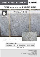 Avalanche Marble Slabs