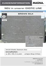 Exotic Brown Silk Granite Slabs