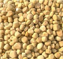 Yellow Tumbled Limestone Pebbles Stone Viet Nam