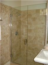 Travertine Mosaic Bathroom Wall and Floor