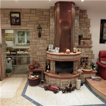 Udelfanger Sandstein Wood Burning Fireplace Decorating