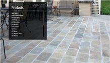 Raveena Sandstone Patio Pavement, Lilac Sandstone India Cube Stone & Pavers
