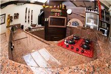 Granito Vermelho Gaucho Kitchen Countertops