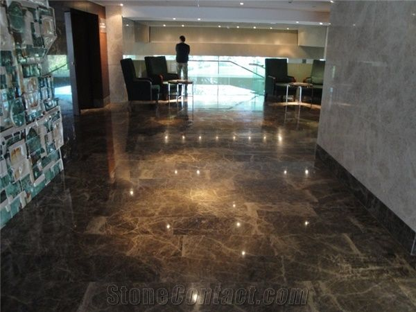 Dark Coffee Marble And Dfethiye Dark Emperador Marble