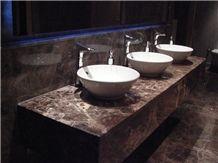 Fethiye Dark Emperador Marble Bath Countertops, Natural Stone Emperador  Dark Marble Counter Tops Vanity Tops Ns M3/D03