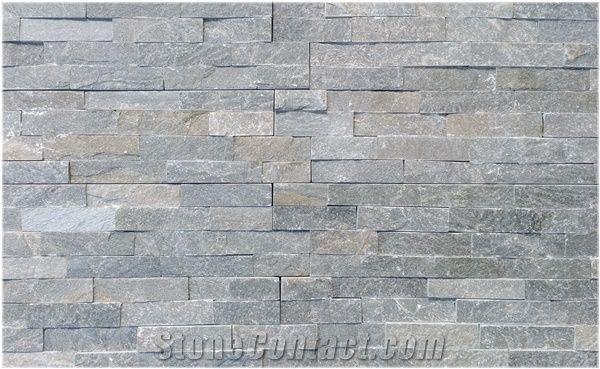 Slate Decorative Exposed Wall Stone Facade Dark Gray