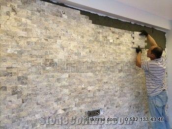 Ledger Stone Panels Split Face Travertine Tiles From
