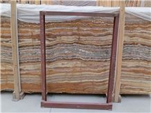 Brown Fantastic Onyx Tiles and Slabs