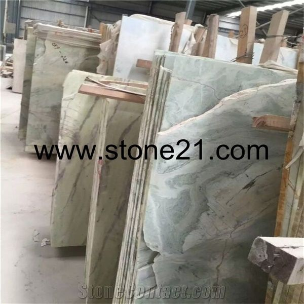 Cold Jade Green Color Marble Tiles Slabs For Sale From