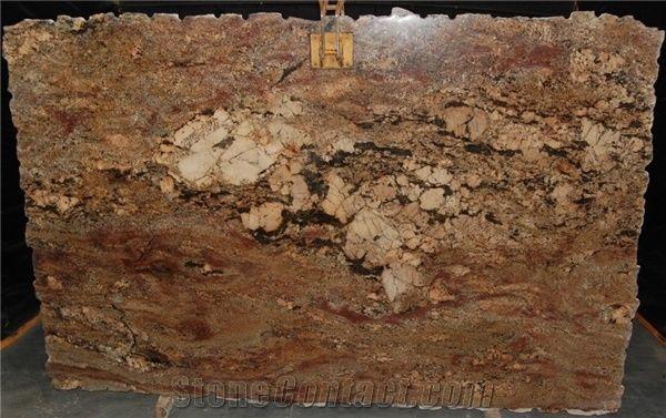 Juparana Crema Bordeaux Granite Tiles