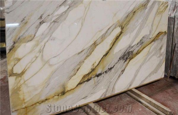 Calacatta Macchia Vecchia Marble Tiles Slabs White Marble