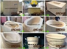 China Marble Carved Solid Surface Multicolor Bath Tubs