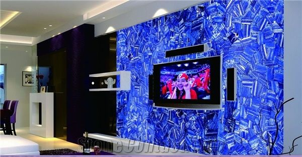 Lapis Lazuli Semi Precious Stone Tiles Slabs Blue Semi