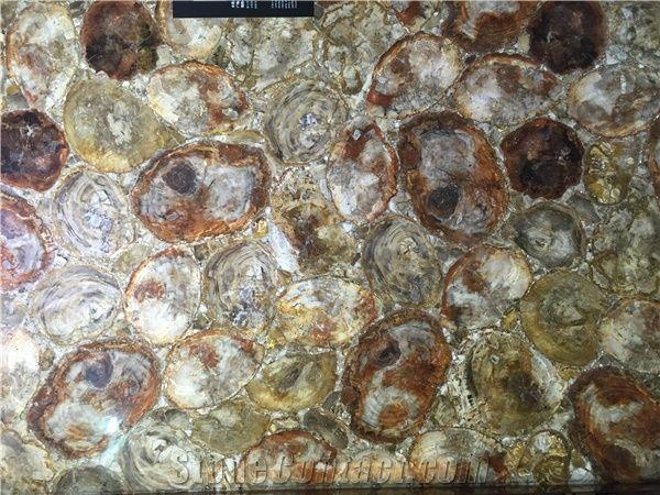 round petrified wood gem stone slabs tiles semi precious tiger slabs