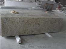Brazil Light Beige, Yellow Popular Cheap Giallo Ornamental Granite Kitchen Tops, Countertops, Bench Tops, Worktops, Natural Building Stone Bar Tops Decoration with Bullnose Edges