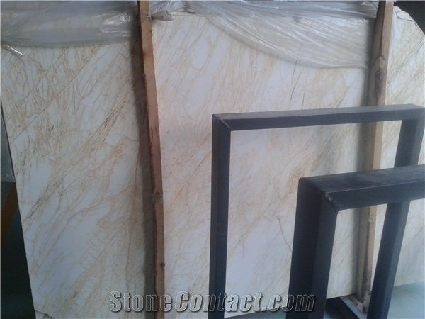 Greece Cheap Popular Yellow Golden Spider Marble Polished