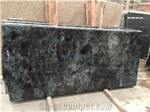 Popular Lemurian Labradorite Blue Granite Polished Slabs, & Tiles, Madagascar Granite with Blue Sparking Spots, Polished Natural Building Stone Flooring,Feature Wall,Interior Paving,Clading,Decoration