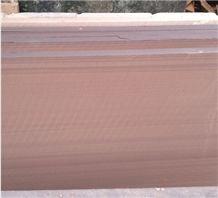 Red Peach Wooden Sandstone Tile Size Honed,Flamed Brushed