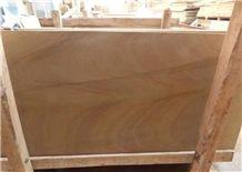 Yellow Wood Vein Sandstone Slabs & Tiles, China Yellow Sandstone