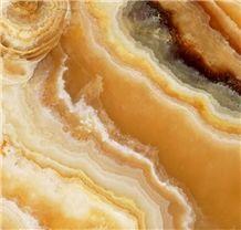 Golden Cloud Onyx (Honey Onyx Cross Cut) Tiles & Slabs, Yellow Onyx Turkey Tiles & Slabs