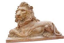 Beige Granite Engraving Stone,Cheap Animal Sculptured Stone,Lions Door Guards,Garden Decoration,Beige Lions Sculptured
