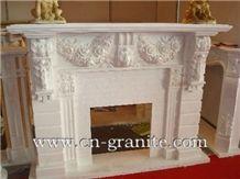 China White Marble Fireplace,Interior Stone Decoration,Fireplace Pattern,Wholesaler-Xiamen Songjia