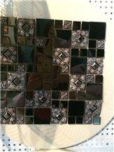 Mental Golden Wall Covering Tiles Mosaic,Floor Mosaic Pattern,High Quality Brick Mosaic