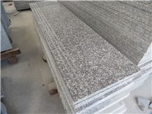 Polished Granite Pink G664,Tread Slab with Full Bullnose,Polished Steps with Strong Wooden Crate
