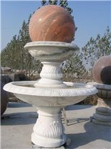 White Granite Ball Fountains,Own Factory Chinese Garden Fountains.Sculptured Fountains,High Quality Floating Ball Fountains